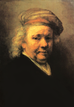 The cover of the Rembrandt book by Jessica Hodge.
