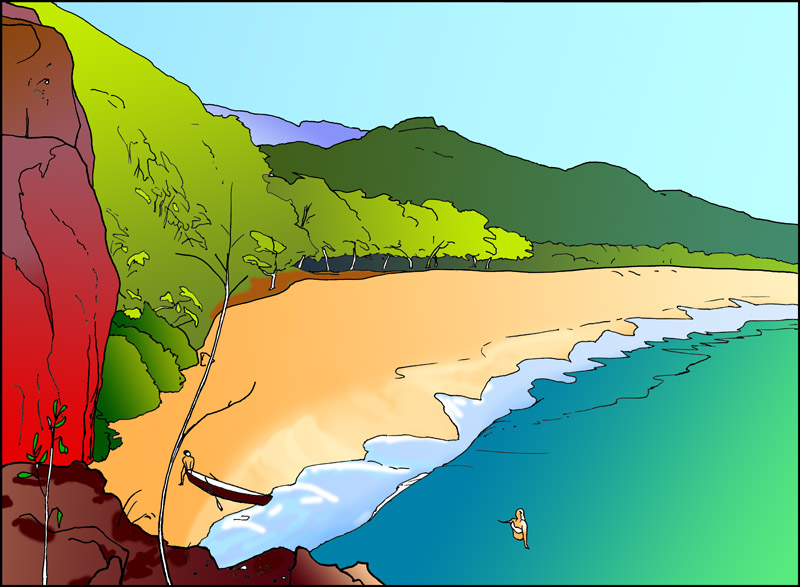 Makena Beach to be Colored