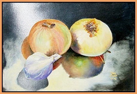 Onion and Garlic, Pictura Translucida, 7.5x11, view #2