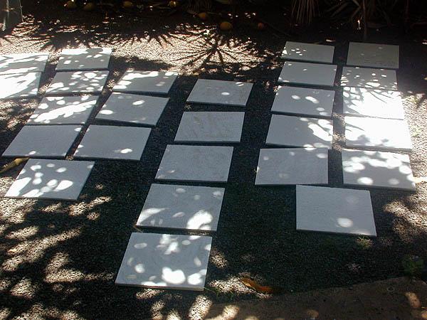 drying tiles