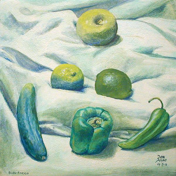 Green On Green Boun Fresco