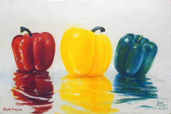 Red Yellow Green Peppers, Buon Fresco