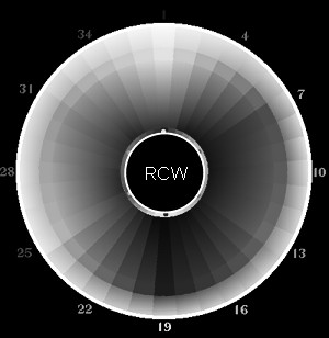 Real Color Wheel Grayscale