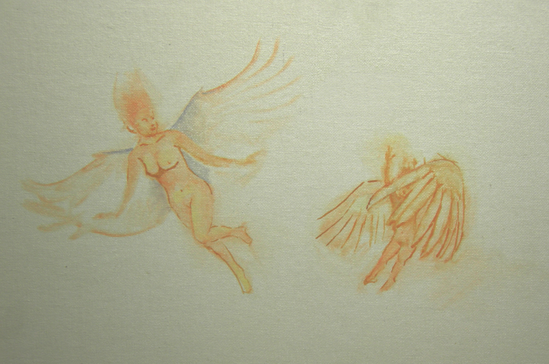 first small sketch of 2 angels