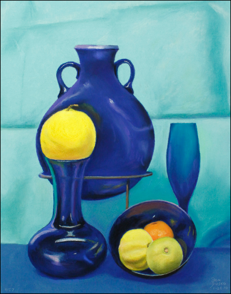 3Blue Glass and Lemon covered & finished