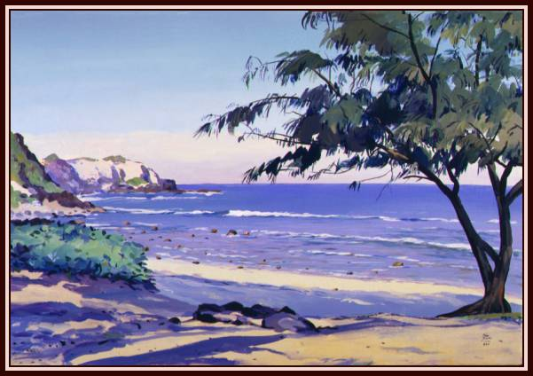 #65, Fleming Beach, Acrylic,
