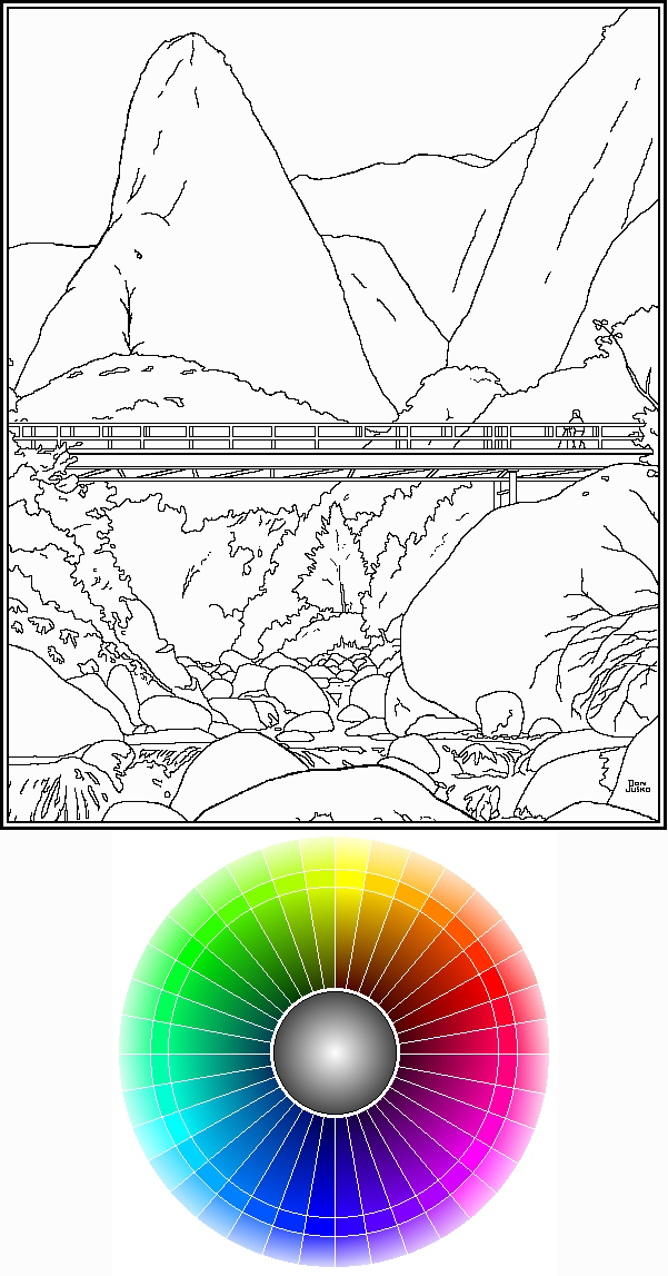 #97, Real Color Wheel and Color-In Iao Image png format